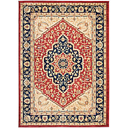Safavieh Austin Sutton Red / Navy 5 ft. 3 inch x 7 ft. 6 inch Indoor Area Rug