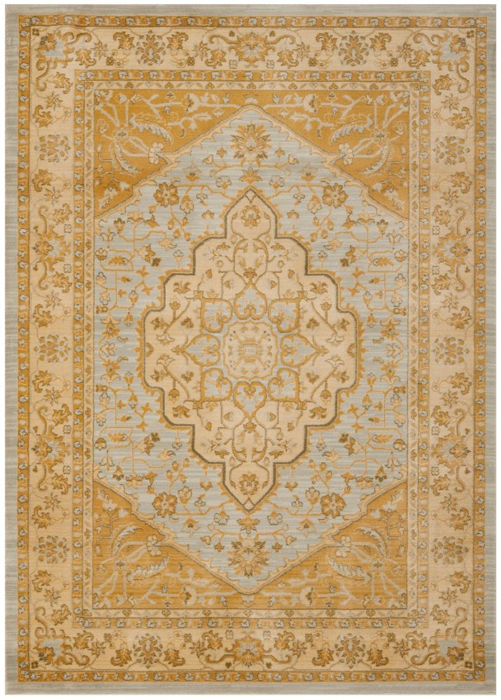 Safavieh Austin Sutton Light Grey / Gold 5 ft. 3 inch x 7 ft. 6 inch Indoor Area Rug