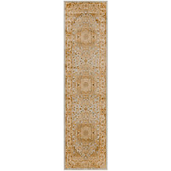 Safavieh Austin Stafford Light Grey / Gold 2 ft. 3 inch x 8 ft. Indoor Runner