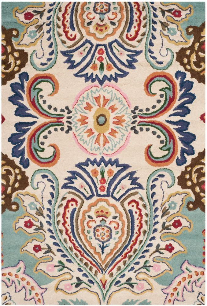 Safavieh Bella Manuel Ivory / Blue 5 ft. x 8 ft. Indoor Area Rug