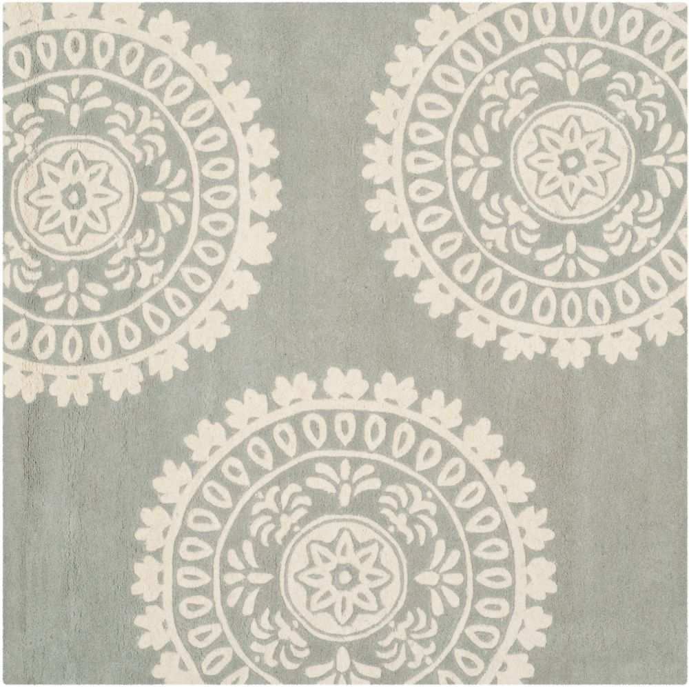 Safavieh Bella Alan Grey / Ivory 7 ft. x 7 ft. Indoor Square Area Rug