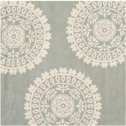 Safavieh Tapis d'intérieur carré, 7 pi x 7 pi, Bella Alan, gris / ivoire