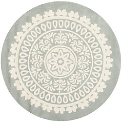 Safavieh Bella Jon Grey / Ivory 7 ft. x 7 ft. Indoor Round Area Rug