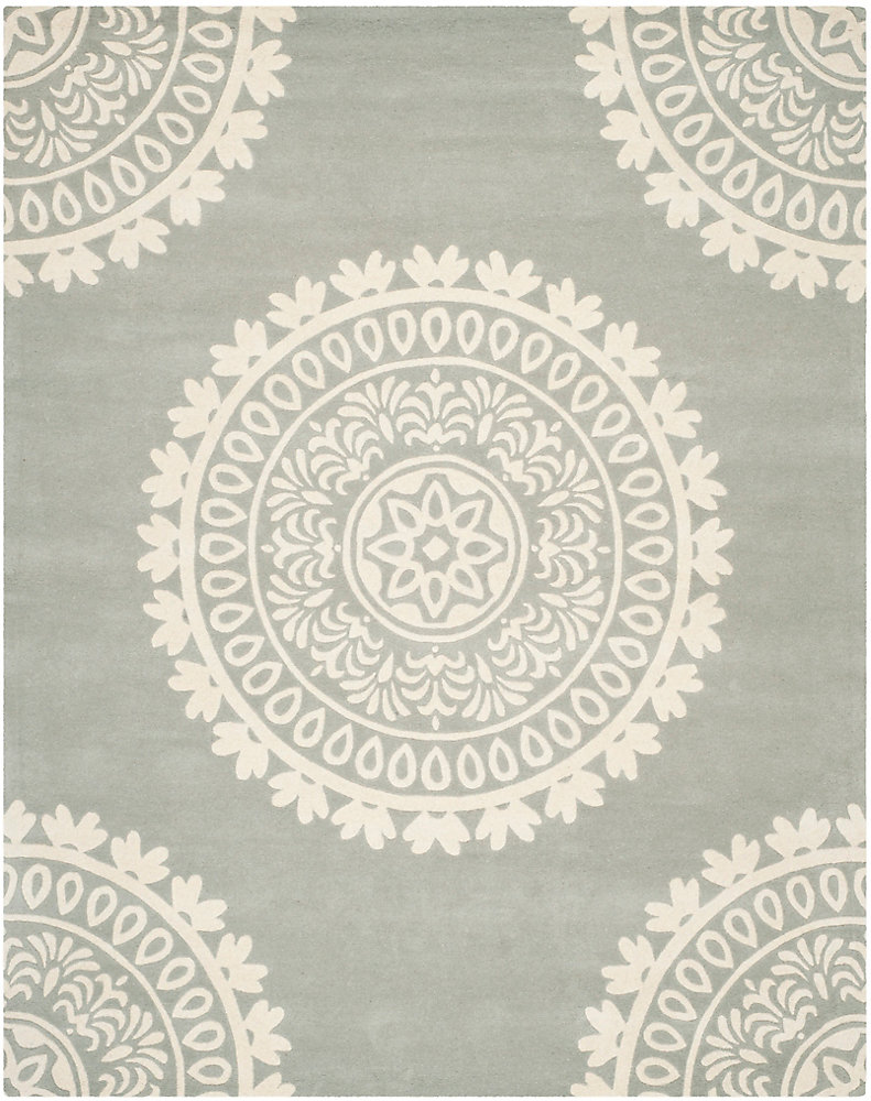 Bella Jon Grey / Ivory 8 ft. x 10 ft. Indoor Area Rug