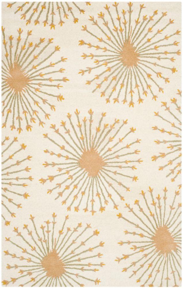 Safavieh Bella Dominque Beige / Gold 4 ft. x 6 ft. Indoor Area Rug