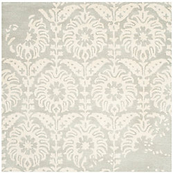 Safavieh Bella Dexter Light Grey / Ivory 5 ft. x 5 ft. Indoor Square Area Rug