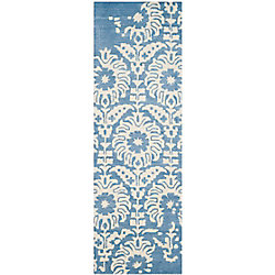 Safavieh Bella Dexter Light Blue / Ivory 2 ft. 3 inch x 7 ft. Indoor Runner