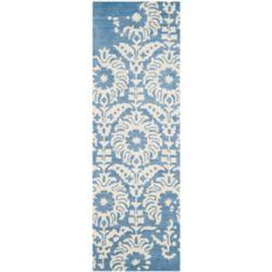 Safavieh Bella Dexter Light Blue / Ivory 2 ft. 3 inch x 7 ft. Indoor Runner