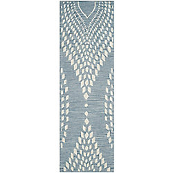 Safavieh Bella Dean Blue / Ivory 2 ft. 3 inch x 9 ft. Indoor Runner