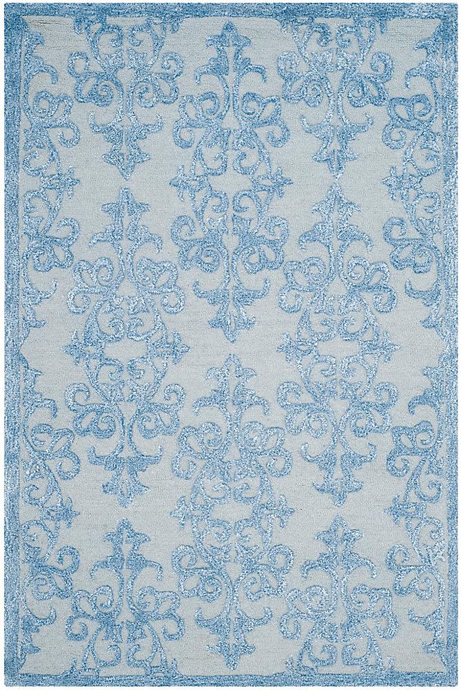 Bella Garen Blue 4 ft. x 6 ft. Indoor Area Rug