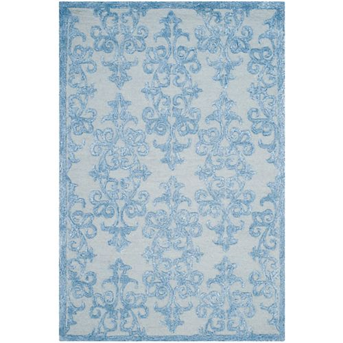 Safavieh Tapis d'intérieur, 4 pi x 6 pi, Bella Garen, bleu