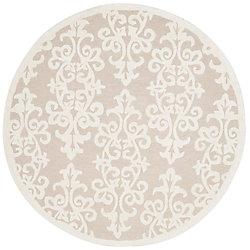 Safavieh Bella Garen Sand / Ivory 5 ft. x 5 ft. Indoor Round Area Rug
