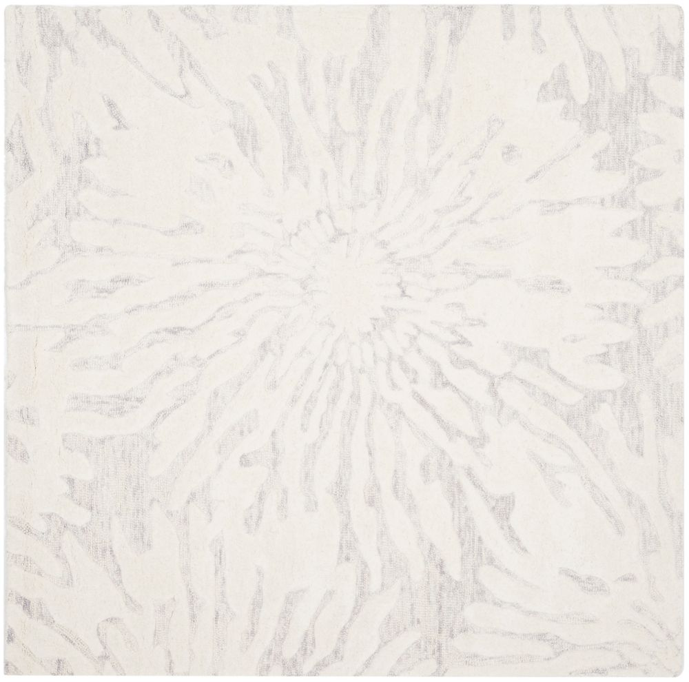 Safavieh Bella Ivana Silver / Ivory 5 ft. x 5 ft. Indoor Square Area Rug