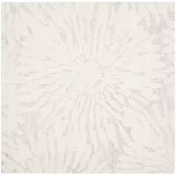 Safavieh Bella Ivana Silver / Ivory 5 ft. x 5 ft. Indoor Square Area Rug