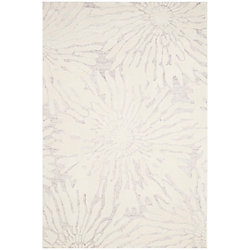 Safavieh Bella Ivana Silver / Ivory 6 ft. x 9 ft. Indoor Area Rug
