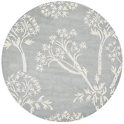 Safavieh Bella Karen Light Blue / Ivory 5 ft. x 5 ft. Indoor Round Area Rug