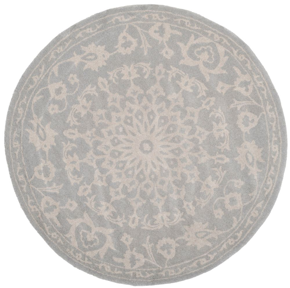 Safavieh Bella Tina Grey / Silver 5 ft. x 5 ft. Indoor Round Area Rug