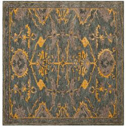 Safavieh Bella Melody Blue Grey / Gold 5 ft. x 5 ft. Indoor Square Area Rug