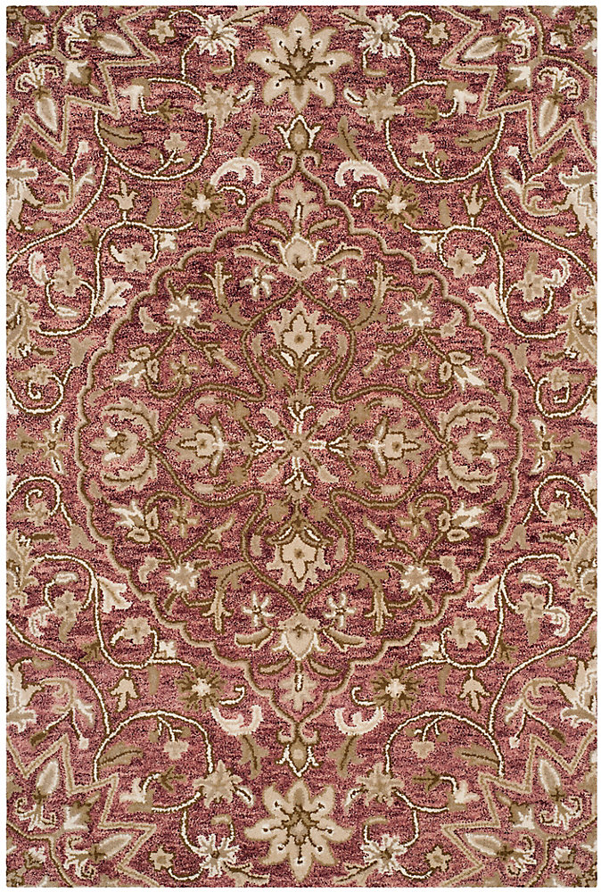 Bella Eason Rose / Taupe 5 ft. x 8 ft. Indoor Area Rug