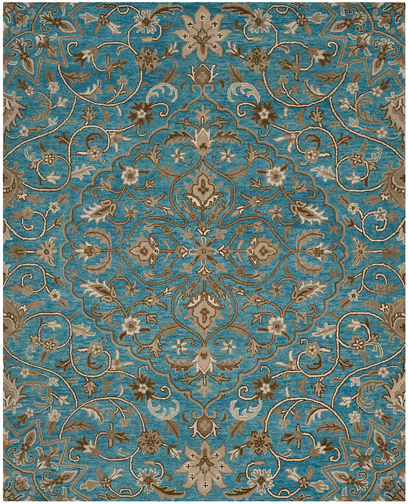 Bella Eason Blue / Taupe 5 ft. x 8 ft. Indoor Area Rug