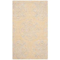 Safavieh Tapis d'intérieur, 3 pi x 5 pi, Bella Duncan, beige / argent