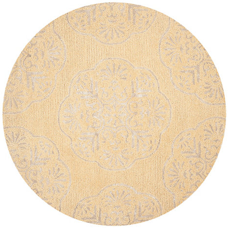 Safavieh Bella Beige Silver 5 Feet X 5 Feet Round Area Rug The