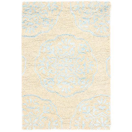 Safavieh Bella Duncan Beige / Blue 2 ft. x 3 ft. Indoor Area Rug