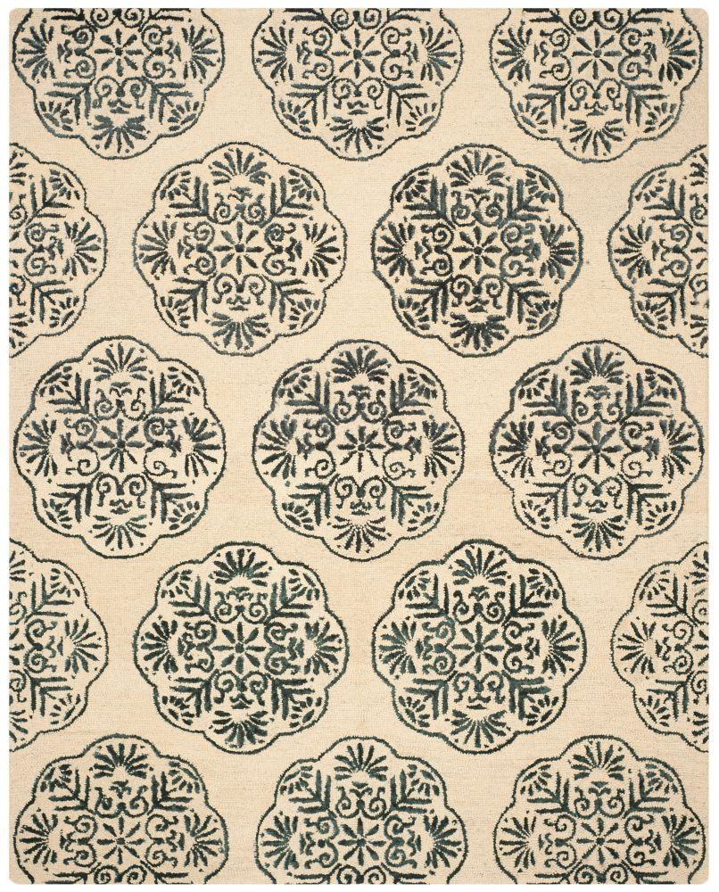 Safavieh Bella Duncan Ivory / Charcoal 8 ft. x 10 ft. Indoor Area Rug