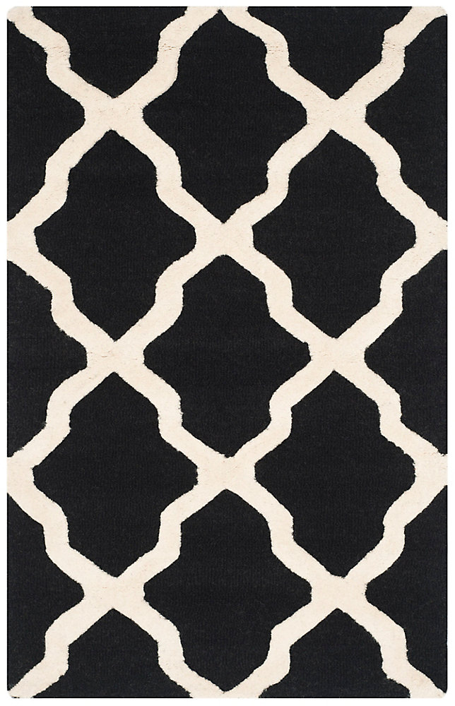 Cambridge Giselle Black / Ivory 3 ft. x 5 ft. Indoor Area Rug