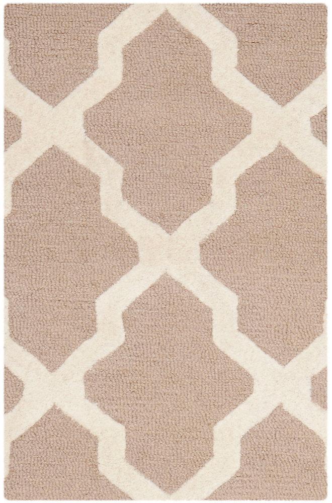Tapis d'intérieur, 2 pi 6 po x 4 pi, Cambridge Giselle, beige / ivoire