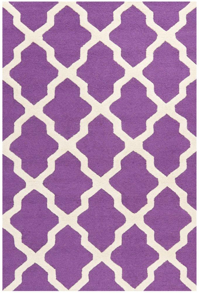 Safavieh Cambridge Giselle Purple / Ivory 4 ft. x 6 ft. Indoor Area Rug