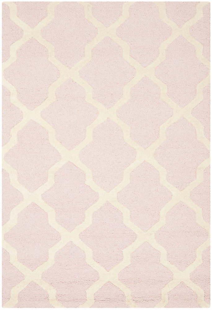 Cambridge Giselle Light Pink / Ivory 4 ft. x 6 ft. Indoor Area Rug