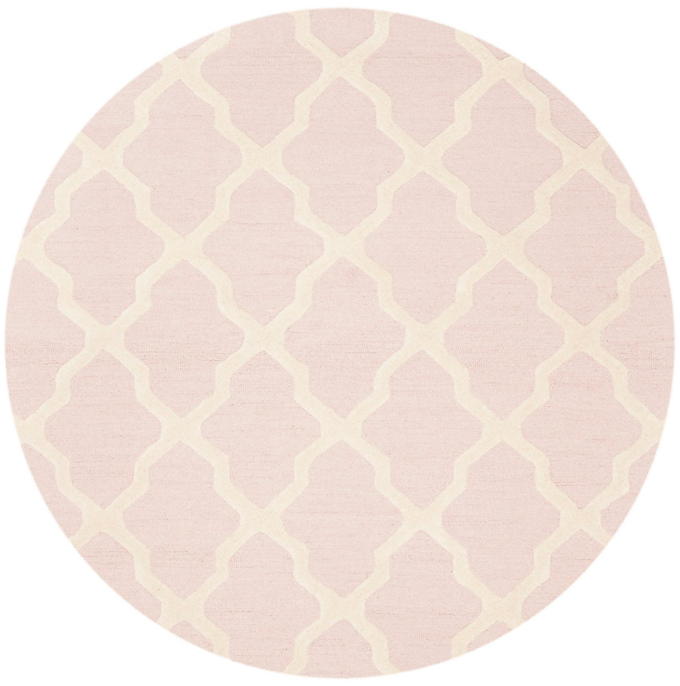 Cambridge Giselle Light Pink / Ivory 4 ft. x 4 ft. Indoor Round Area Rug