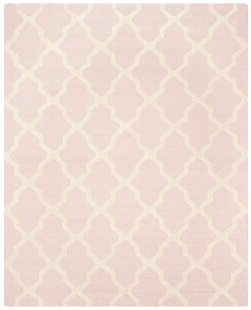 Cambridge Giselle Light Pink / Ivory 7 ft. 6 inch x 9 ft. 6 inch Indoor Area Rug