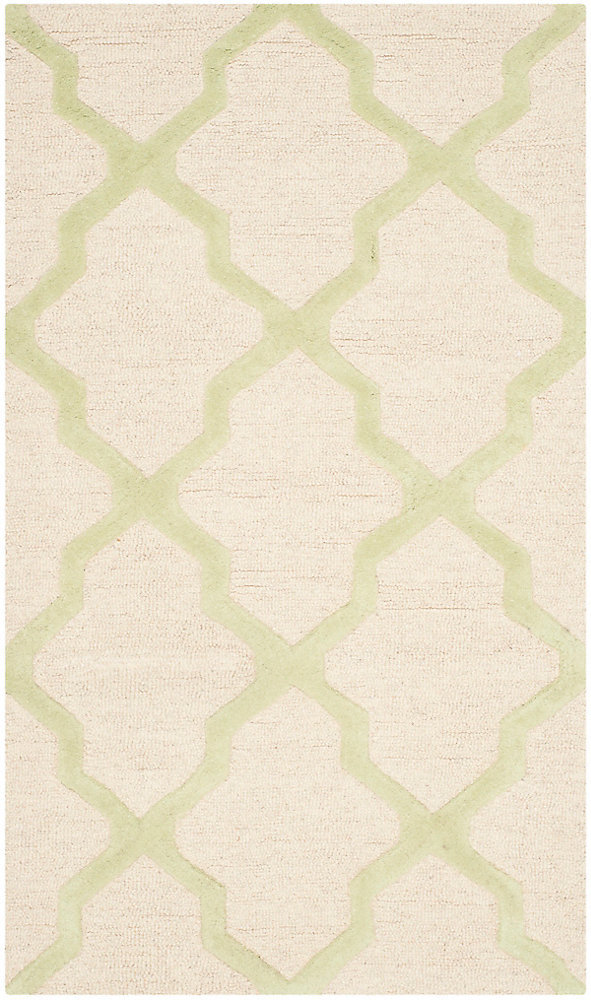 Cambridge Giselle Ivory / Light Green 3 ft. x 5 ft. Indoor Area Rug