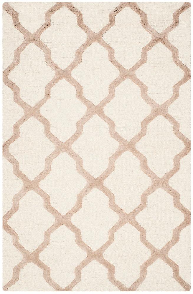 Tapis d'intérieur, 4 pi x 6 pi, Cambridge Giselle, ivoire / beige