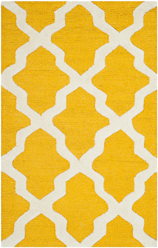 Cambridge Giselle Gold / Ivory 3 ft. x 5 ft. Indoor Area Rug