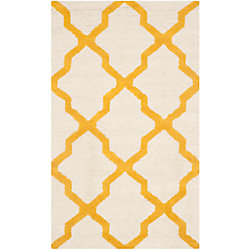 Safavieh Cambridge Giselle Ivory / Gold 2 ft. 6 inch x 4 ft. Indoor Area Rug