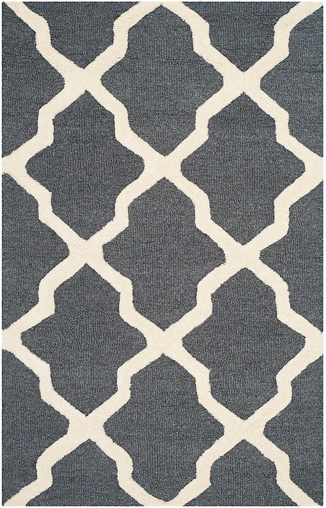Cambridge Giselle Dark Grey / Ivory 3 ft. x 5 ft. Indoor Area Rug