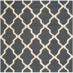 Safavieh Cambridge Giselle Dark Grey / Ivory 4 ft. x 4 ft. Indoor Square Area Rug