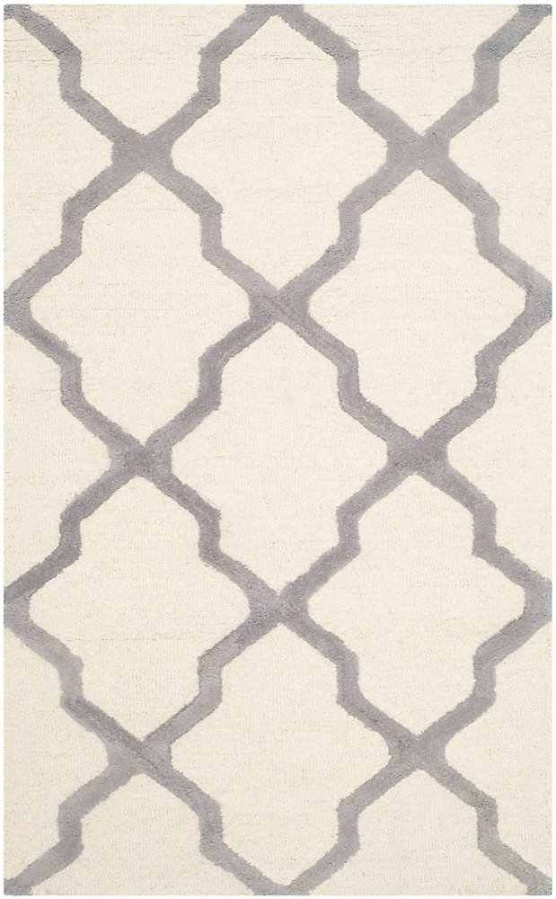 Cambridge Giselle Ivory / Silver 3 ft. x 5 ft. Indoor Area Rug