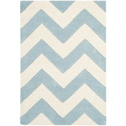Safavieh Chatham Lara Blue / Ivory 3 ft. x 5 ft. Indoor Area Rug