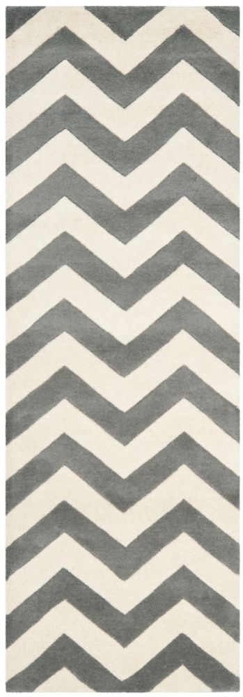 Safavieh Chatham Lara Dark Grey / Ivory 2 ft. 3 inch x 7 ft. Indoor Runner