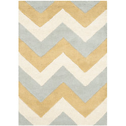 Safavieh Chatham Lara Grey / Gold 2 ft. x 3 ft. Indoor Area Rug