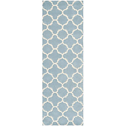 Safavieh Chatham Leslie Blue / Ivory 2 ft. 3 inch x 9 ft. Indoor Runner