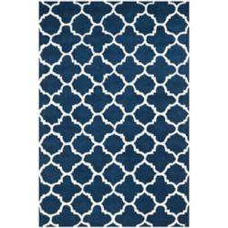 Safavieh Chatham Leslie Dark Blue / Ivory 4 ft. x 6 ft. Indoor Area Rug