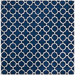 Safavieh Chatham Leslie Dark Blue / Ivory 7 ft. x 7 ft. Indoor Square Area Rug