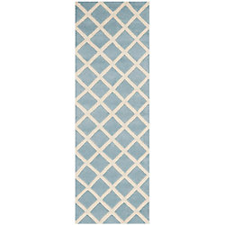Safavieh Chatham Lily Blue / Ivory 2 ft. 3 inch x 7 ft. Indoor Runner