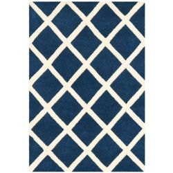 Safavieh Chatham Lily Dark Blue / Ivory 2 ft. x 3 ft. Indoor Area Rug