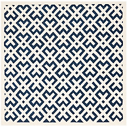Safavieh Chatham Oakly Dark Blue / Ivory 7 ft. x 7 ft. Indoor Square Area Rug